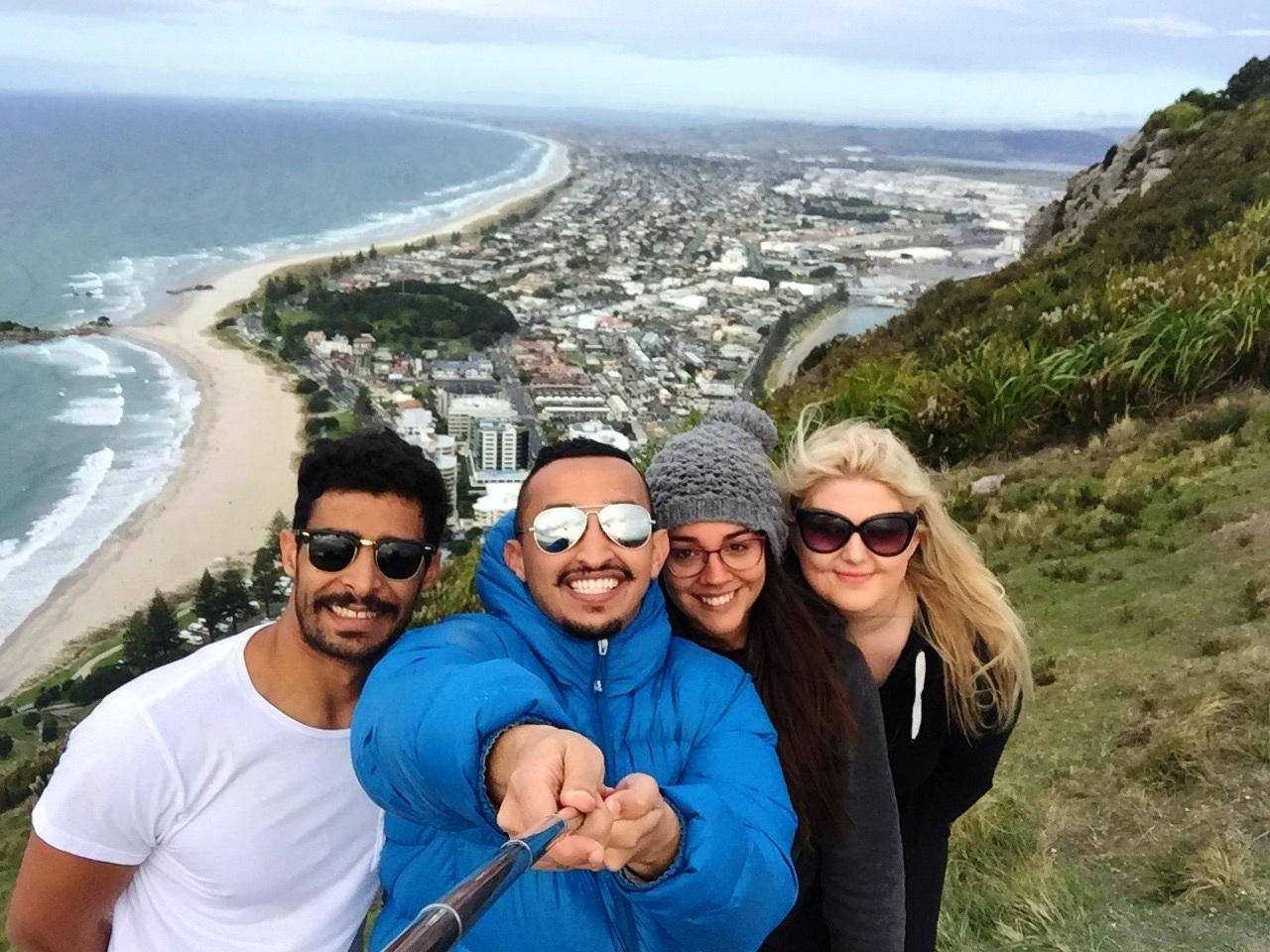 Selfie en Mount Maunganui