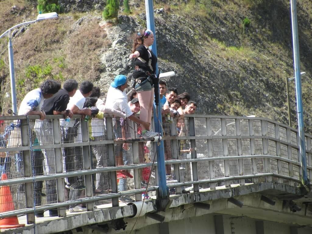 Salto en bungee en Baños de Agua Santa, Ecuador
