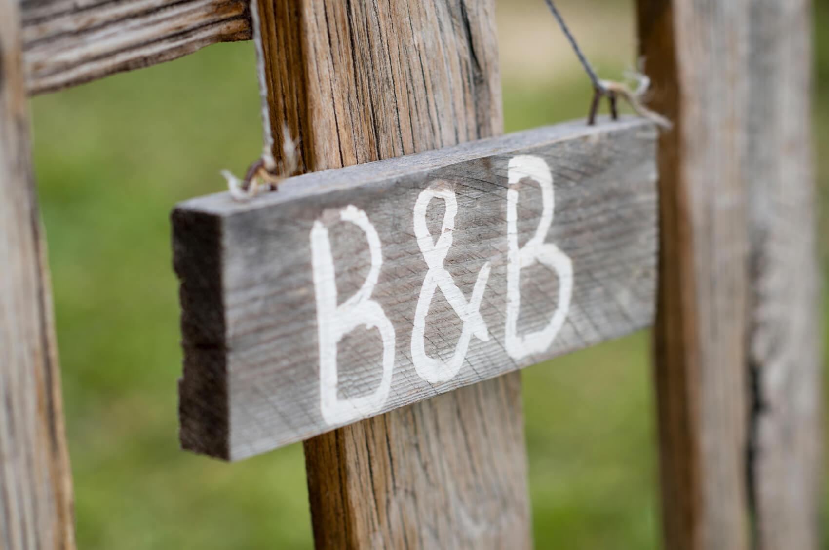 Letrero de B&B