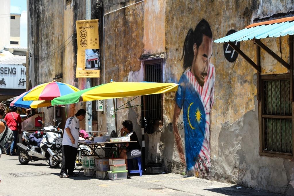 Calles de Georgetown en Penang, Malasia