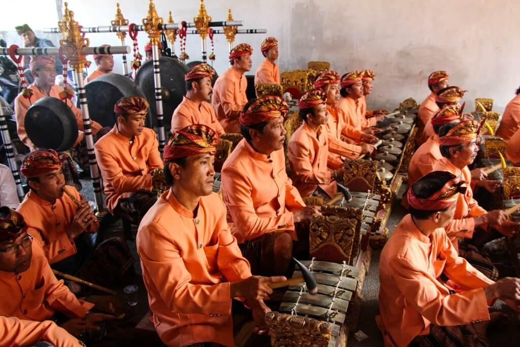 Gamelán en Bali, Indonesia