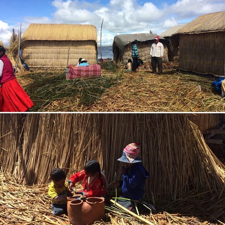 Mujer en islas de los uros, Perú