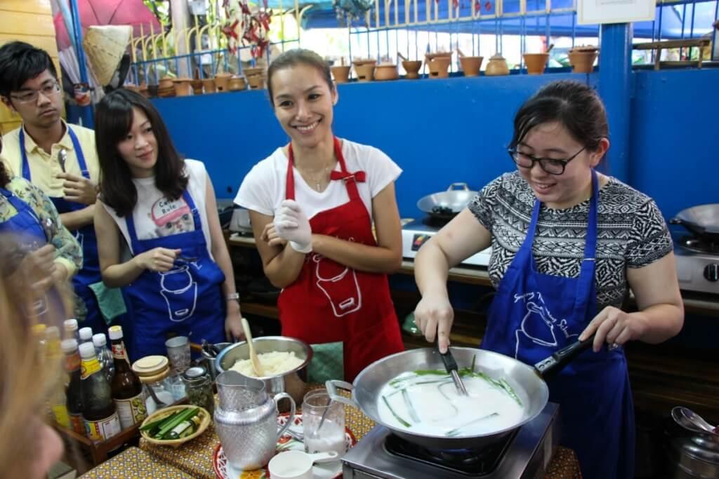 Clase de cocina en Bangkok, Tailandia