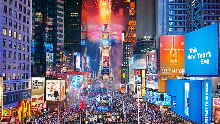 Año Nuevo en Nueva York, Estados Unidos