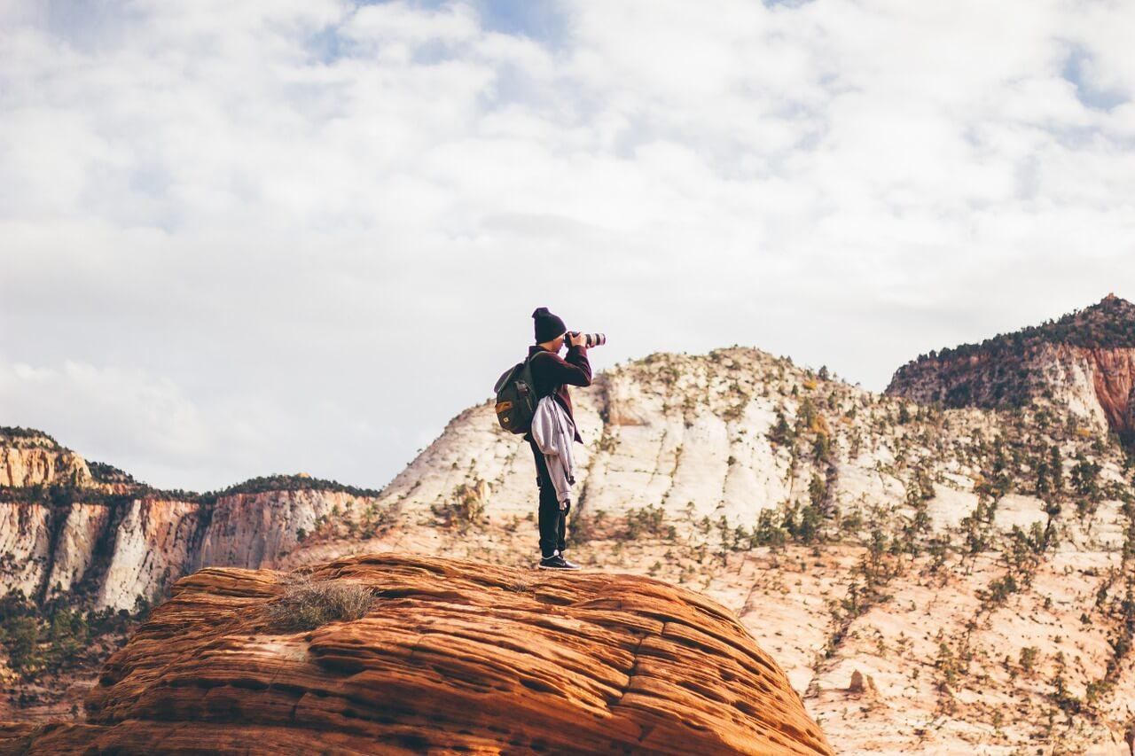 Fotografía sobre la montaña