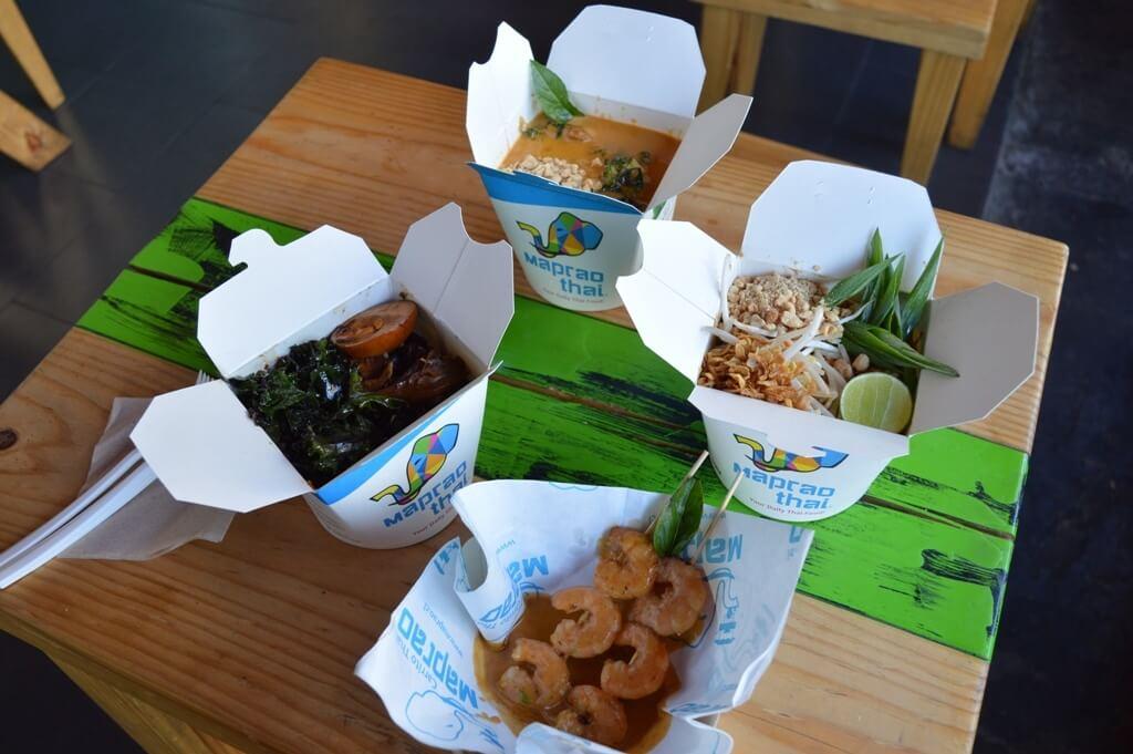 Comida thai en Maprao Thai