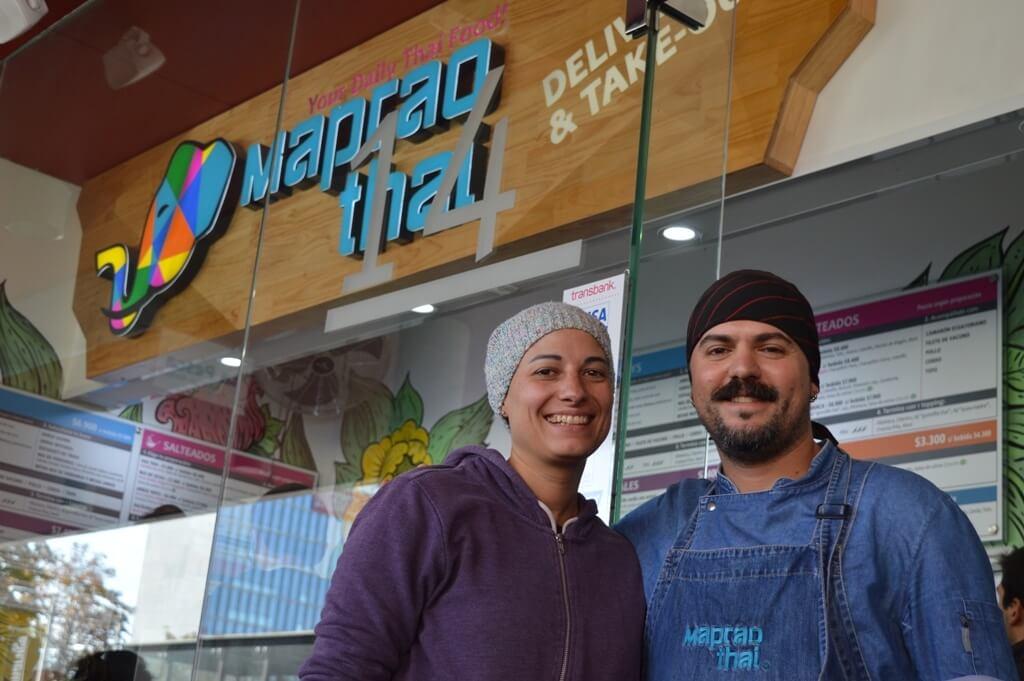 Jaime y Francisca, los socios de Maprao Thai