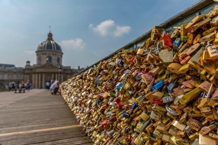 Candados en París, Francia