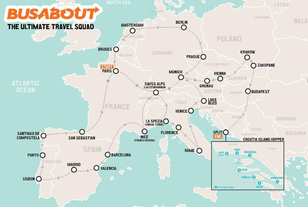 ¡Este es el mapa del recorrido que podrías conocer! - Sueños Viajeros