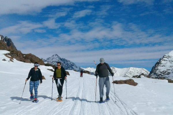 Raquetas de nieve en el Cajón del Maipo - Sueños Viajeros