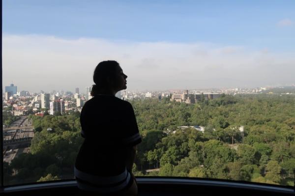 La vista de día desde mi pieza en el Grand Fiesta Chapultepec - Sueños Viajeros
