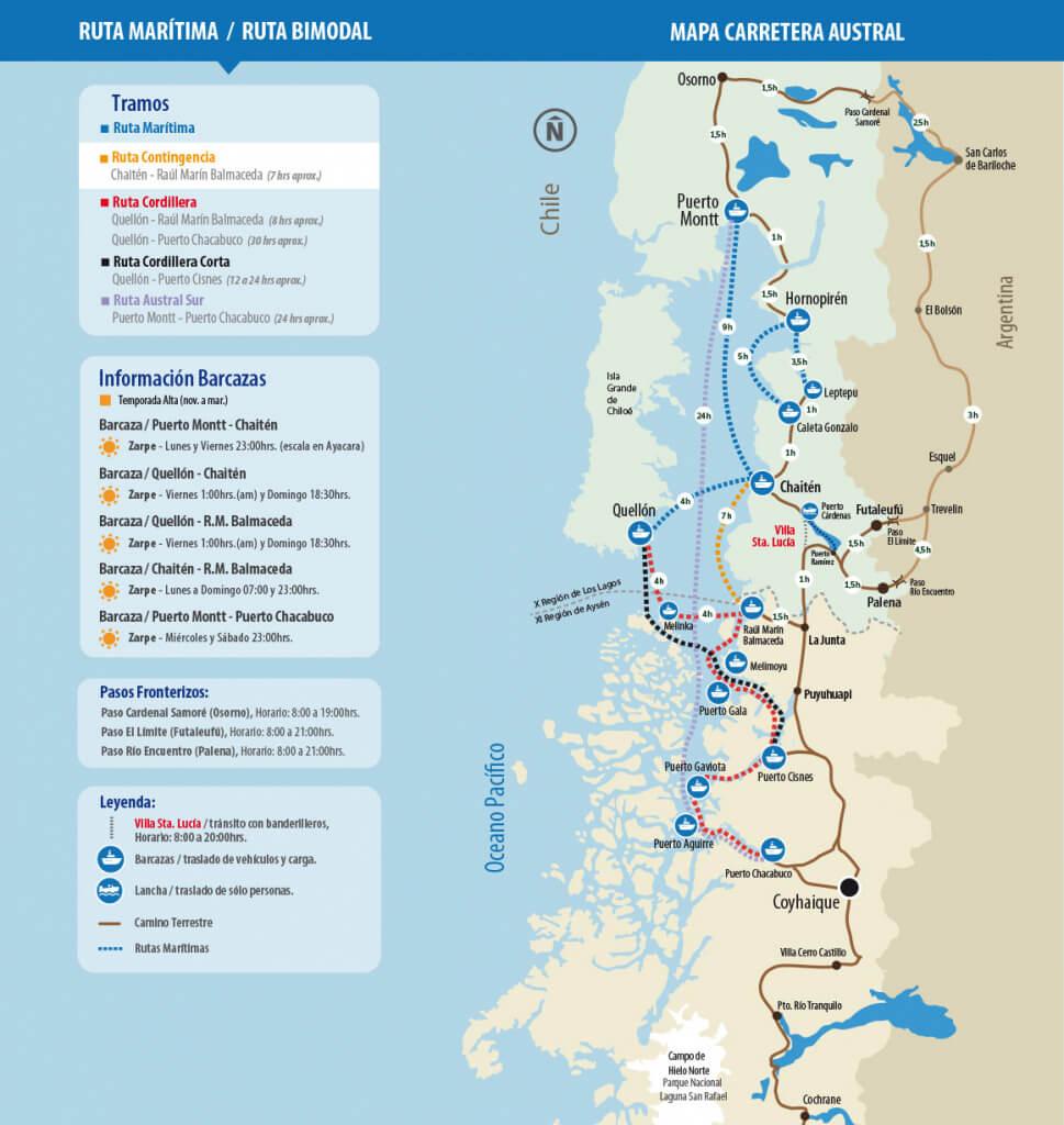 Mapa de la carretera austral - Sueños Viajeros
