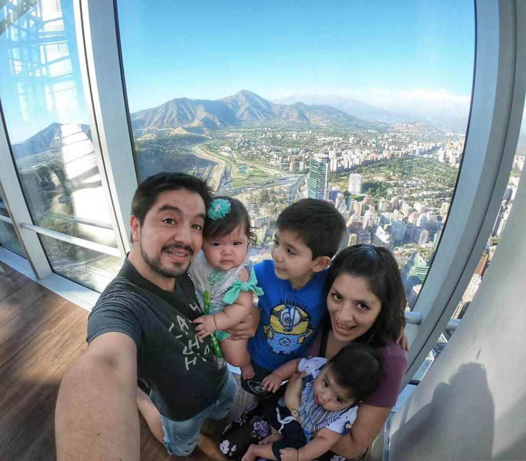 La familia viajera en Santiago - Sueños Viajeros