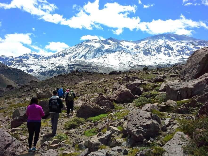 Trekking al volcán San José - Sueños Viajeros