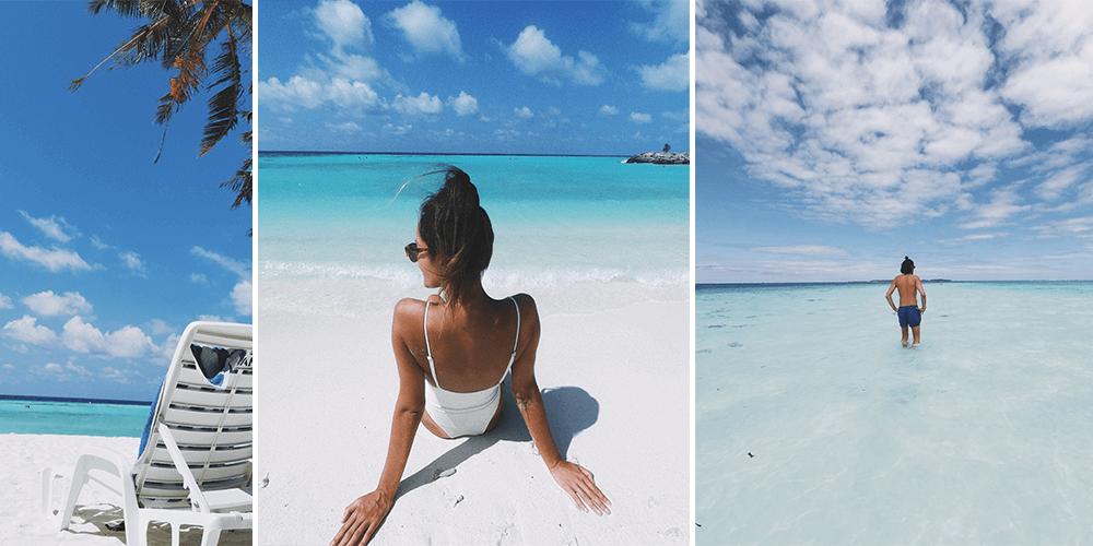 Andrea Tapia en Maldivas