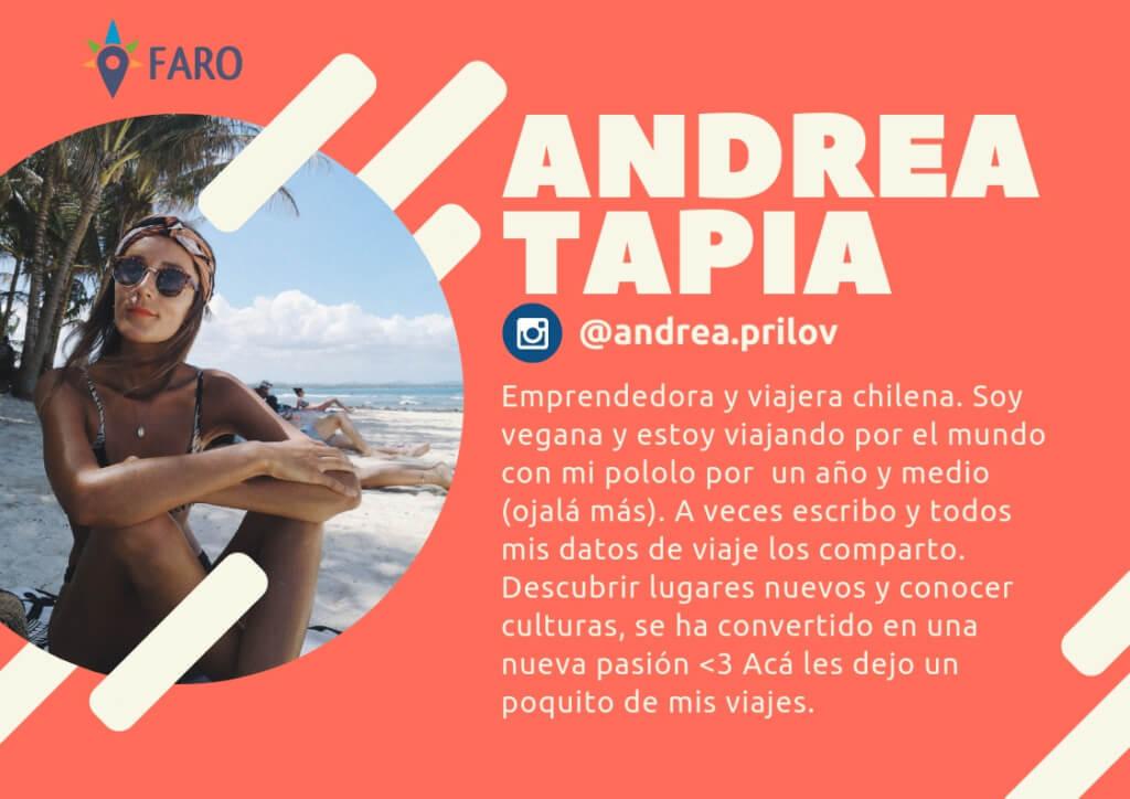 Andrea Tapia - Viajeros Faro