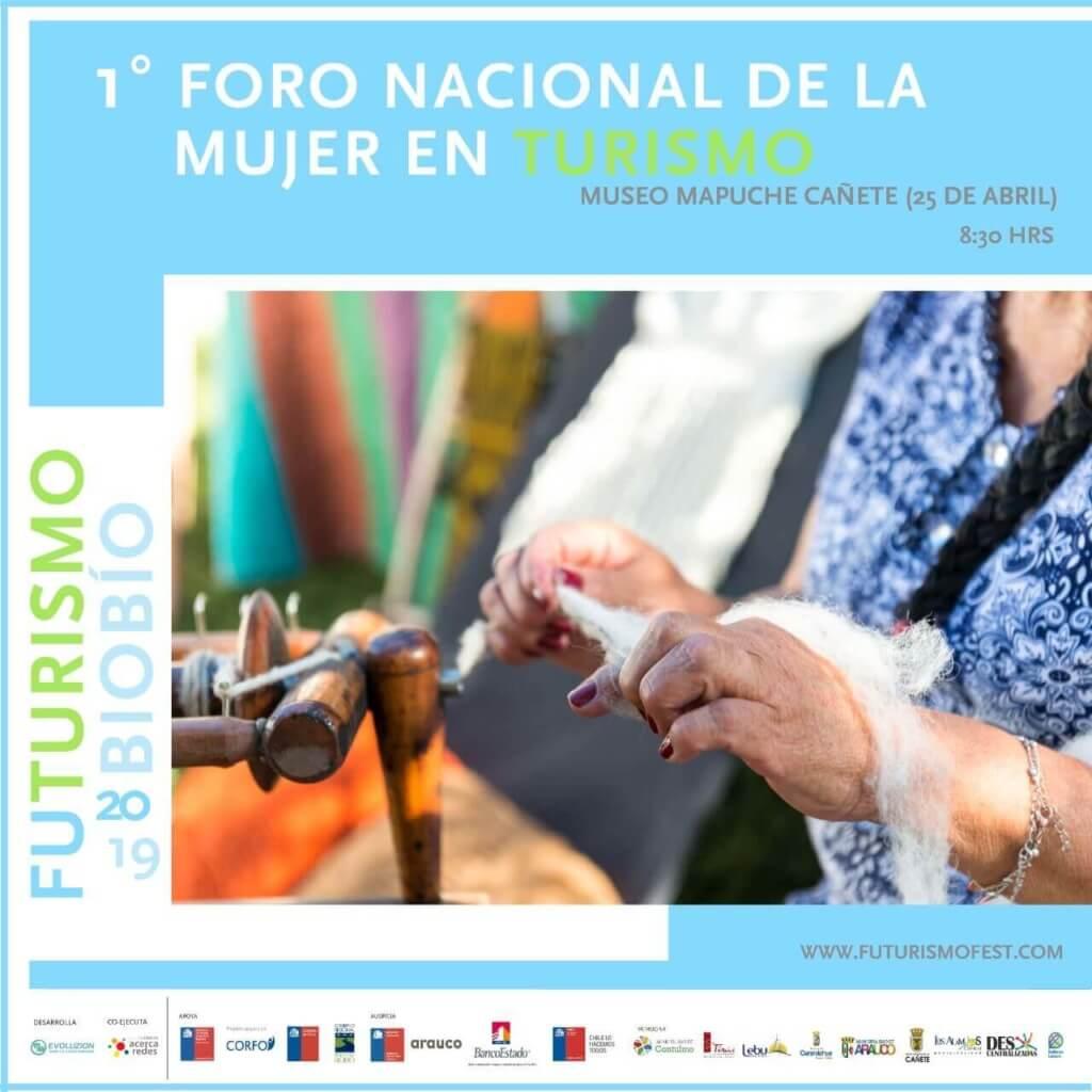 Afiche 1er Foro Nacional de la Mujer en Turismo.