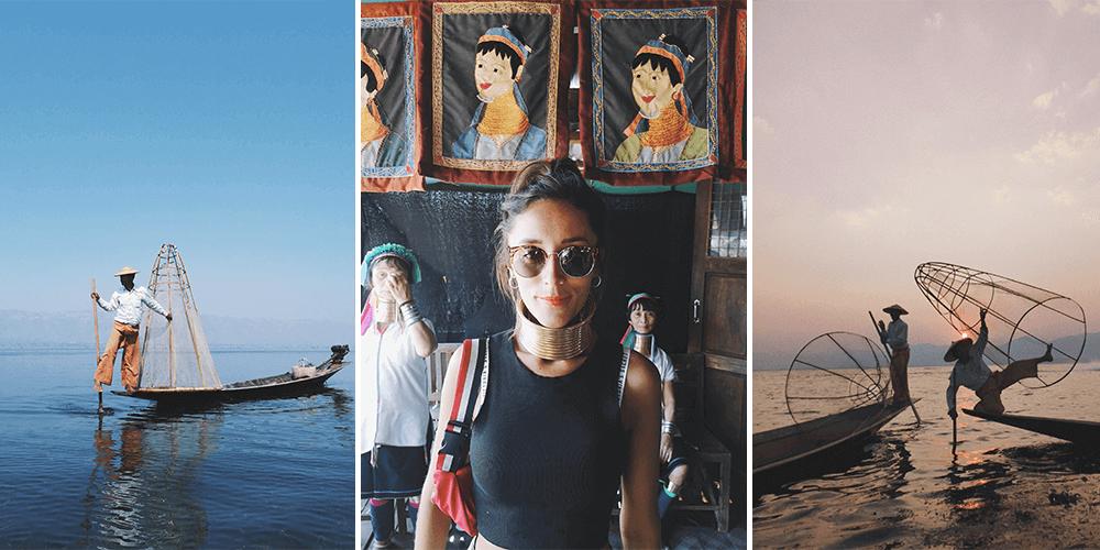 Andrea Tapia en Myanmar